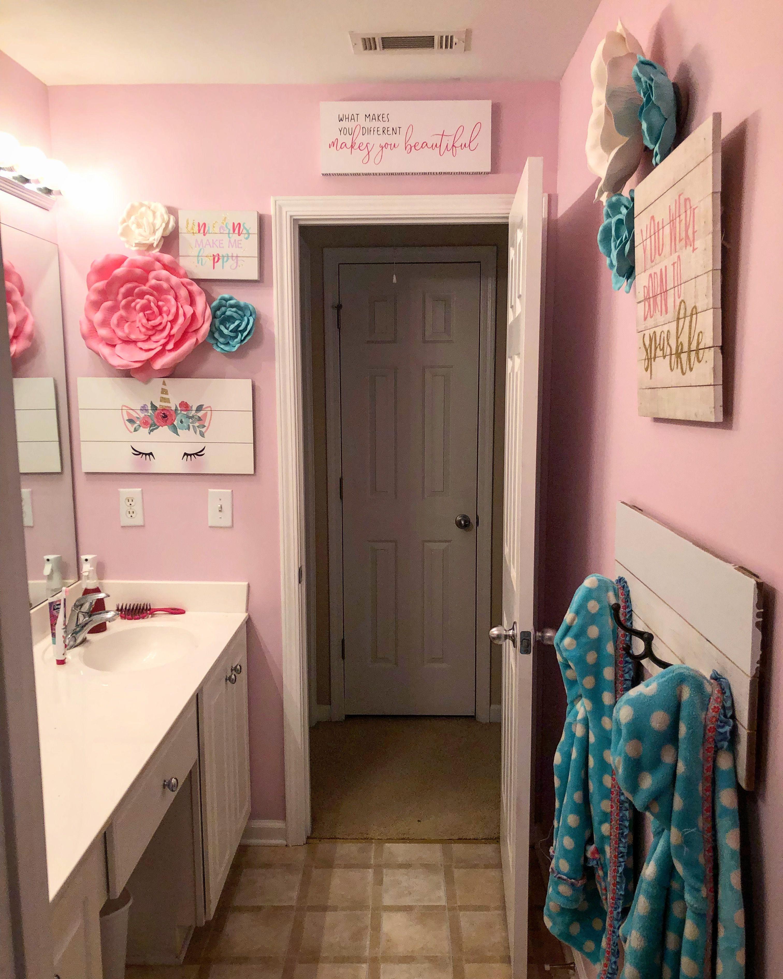 Girls Unicorn Bathroom Girl Bathroom Decor Little Girl