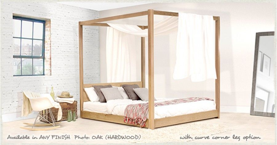 Low Four Poster Bed   Pinterest   Wooden bed frames, Bed frames and ...