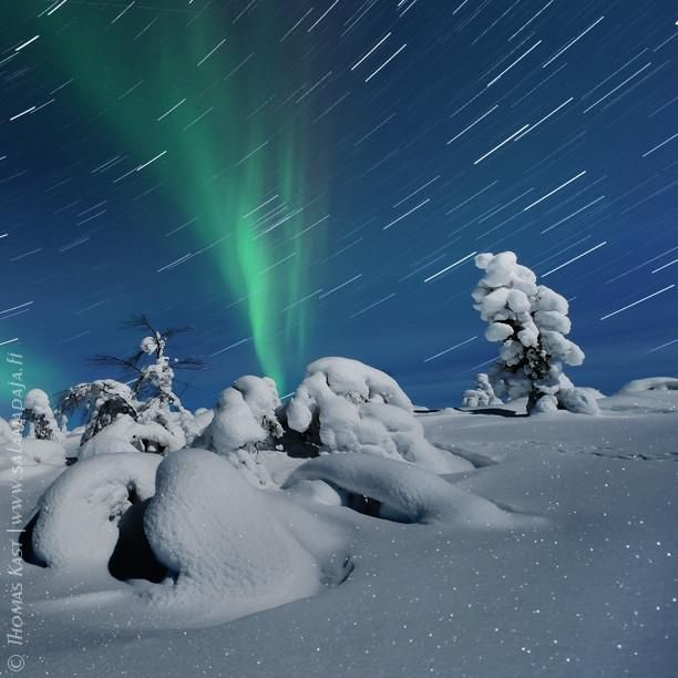It's never too cold when the #aurora is flaming up into the sky :) #lapland #finland