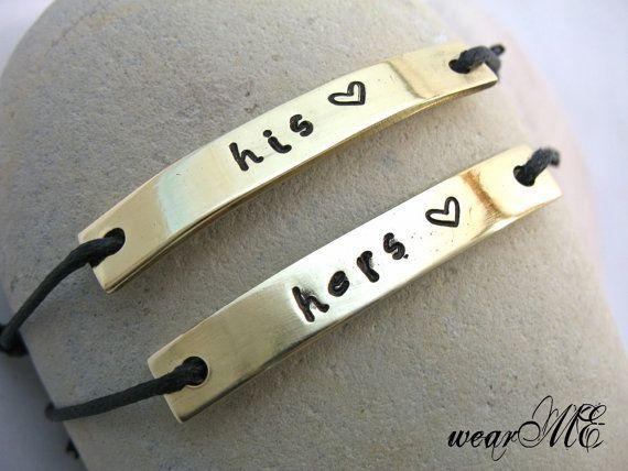 Personalisierte Paare Armband sein und ihr Custom von keepWEARME, €16.00