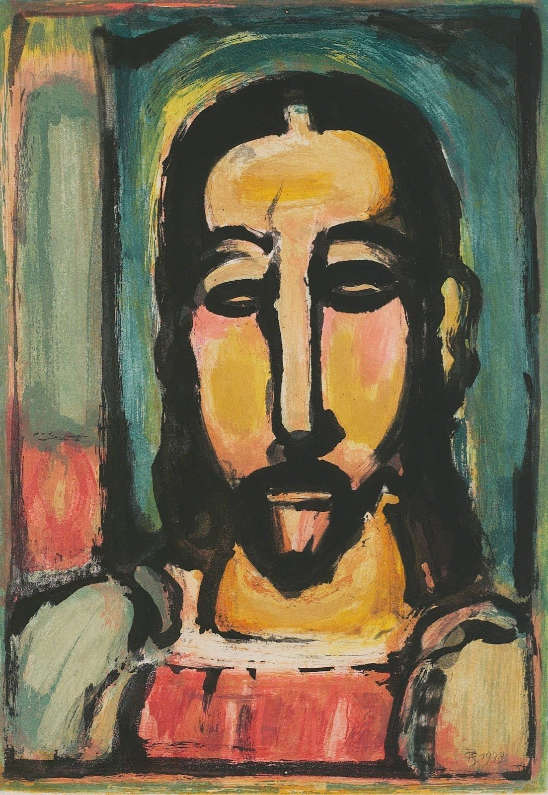 Georges Rouault Face-of-christ. Roualt Of Favorite Artists. Muse Paintings Art