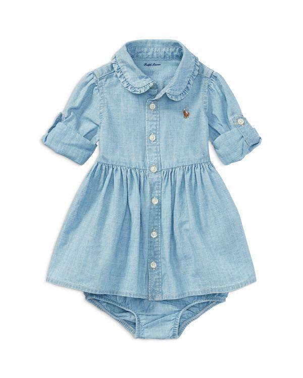 be954425 Ralph Lauren Childrenswear Girls' Chambray Shirt Dress & Bloomers ...