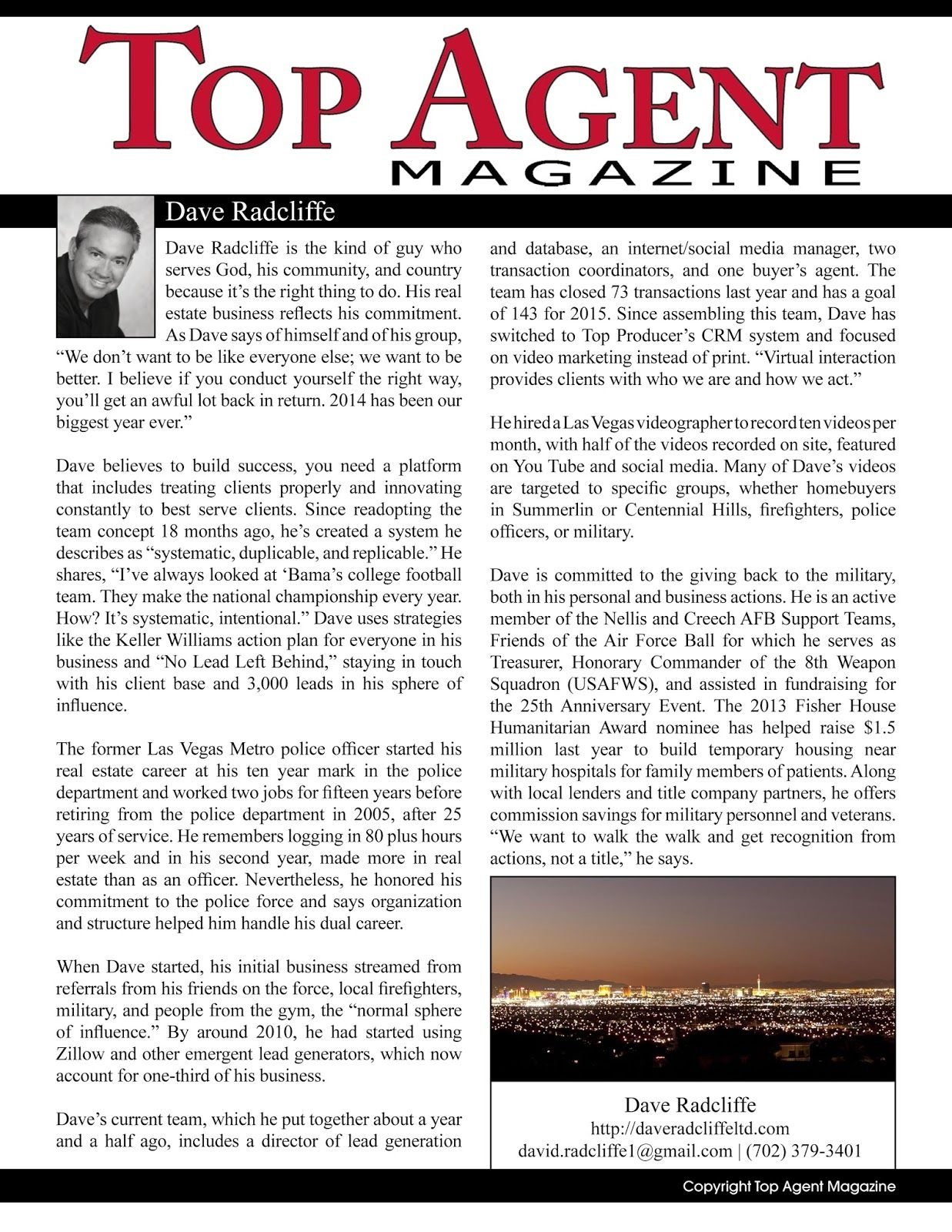 Featured In Top Agent Magazine David Radcliffe Top Agents Real