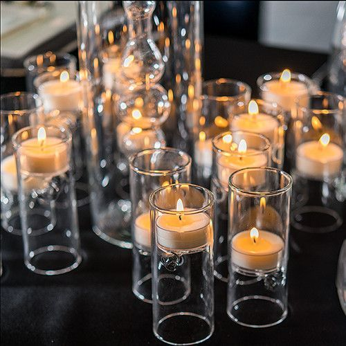 Blown Glass Mini Tealight Holder Pack Of 4 Glass Tea Light Holders Wedding Reception Table Decorations Reception Table Decorations
