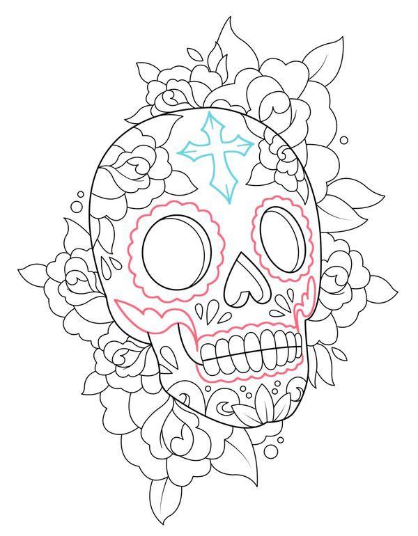 Calavera   Catrinas   Pinterest   Calaveras, Dia de las muertos y Dibujo