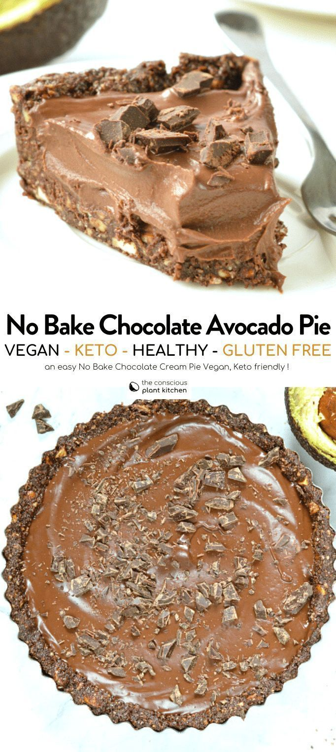 Chocolate avocado pie vegan + keto – The Conscious Plant Kitchen