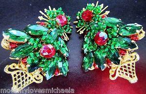 Stanley Hagler Christmas Tree Earrings