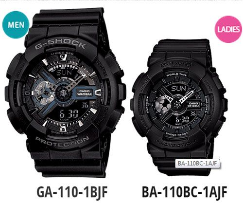 Casio G Shock And Baby Resin Strap Watch Black