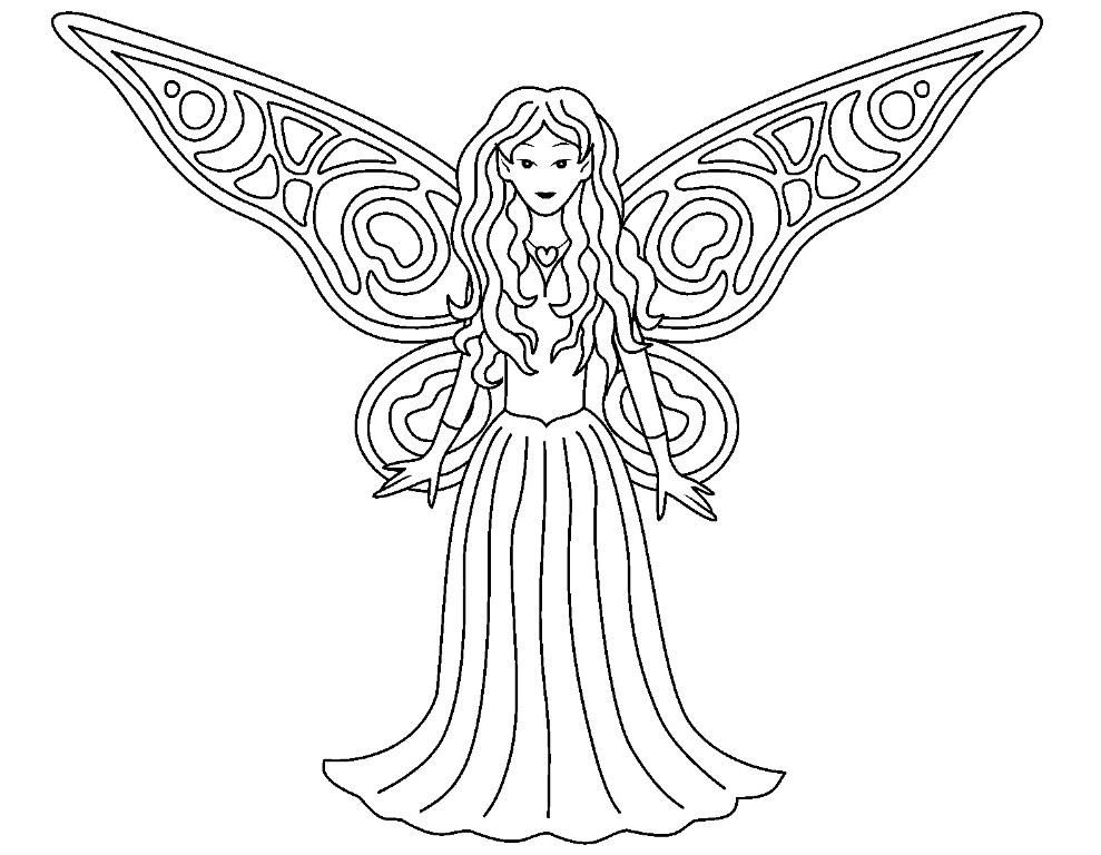 Coloring Printable Fairy Coloring Pages Disney on Fairy Coloring ...