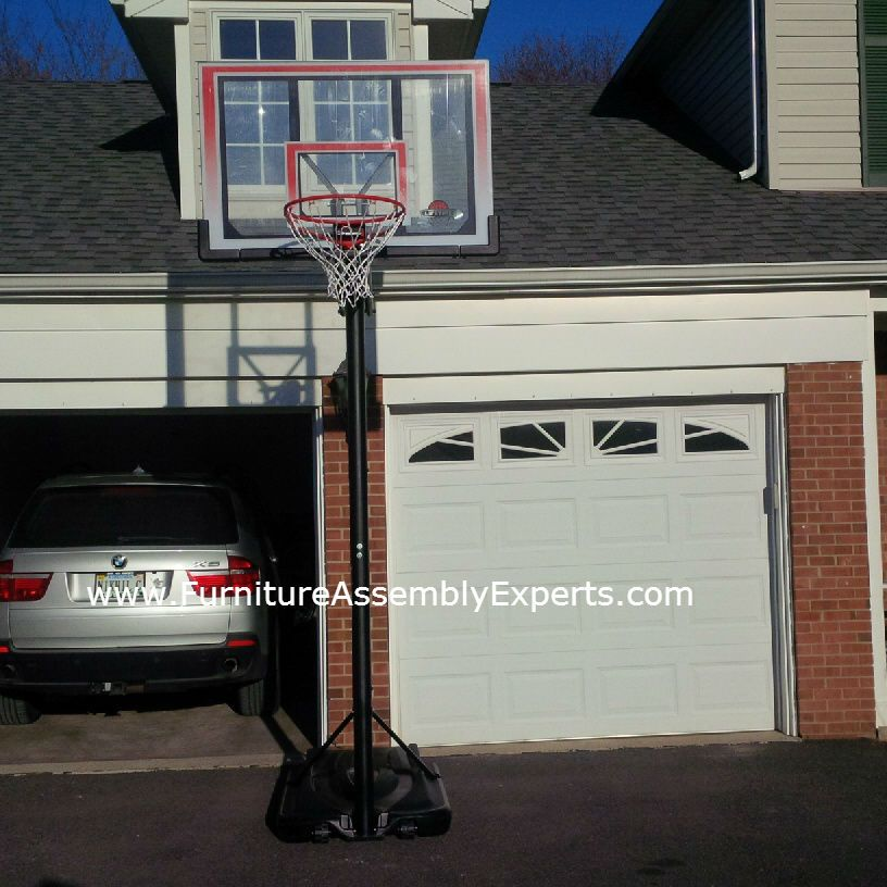 Portable Basketball Hoop Assembly Service Contractor In Dc Md Va Portable Basketball Hoop Basketball Hoop Furniture Assembly