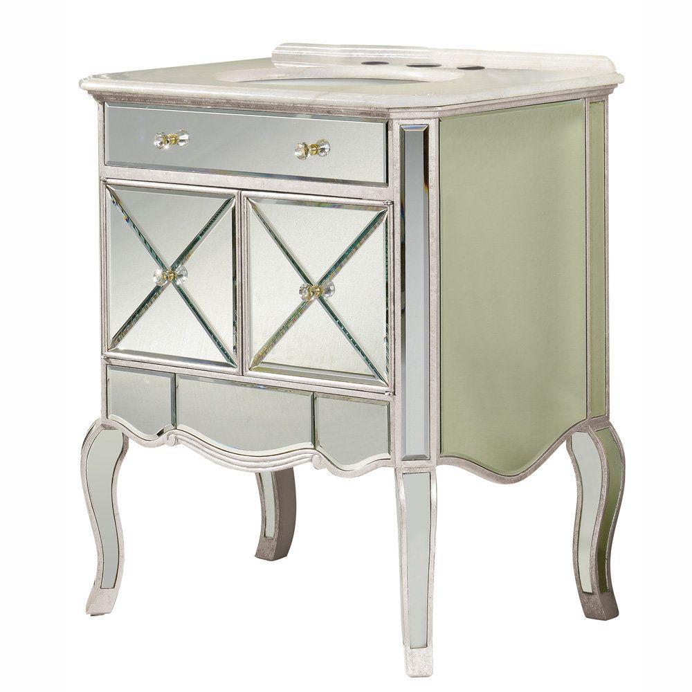 Barsden 21 Mirrored Bathroom Vanity Vanity Cabinet Elegant