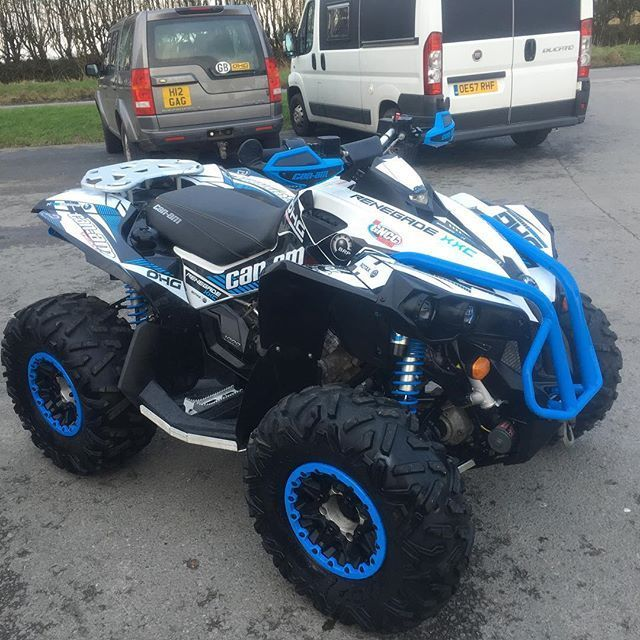 Can Am Renegade 1000 Xxc In White And Blue Ohgquads Canamrenegade Canam Atv Black Truck Renegade