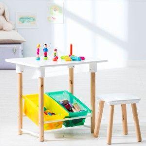 OXYBUL table de construction multicolore et ses deux