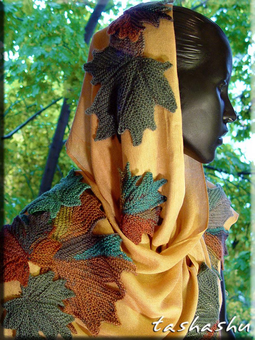 Ravelry: Decorative knitted maple Leaf by Svetlana Gordon | Svetlana ...