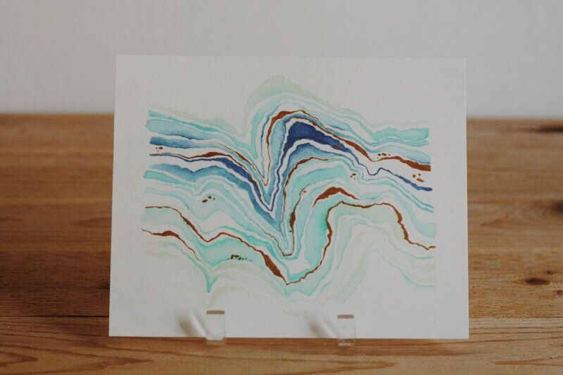 Agate Slice Watercolor Print
