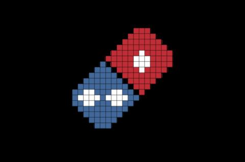 Domino S Pizza Pixel Art Pixel Art Pixel Art Food Perler Bead Art