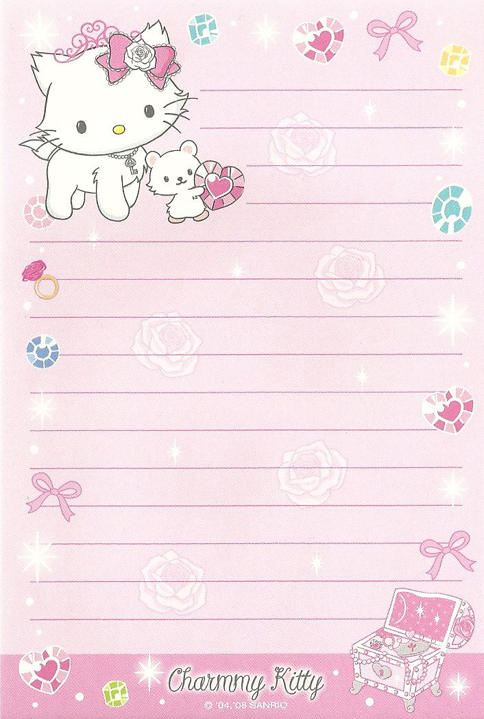 KAWAII SHEEPIE: Charmmy Kitty Stationary Scans