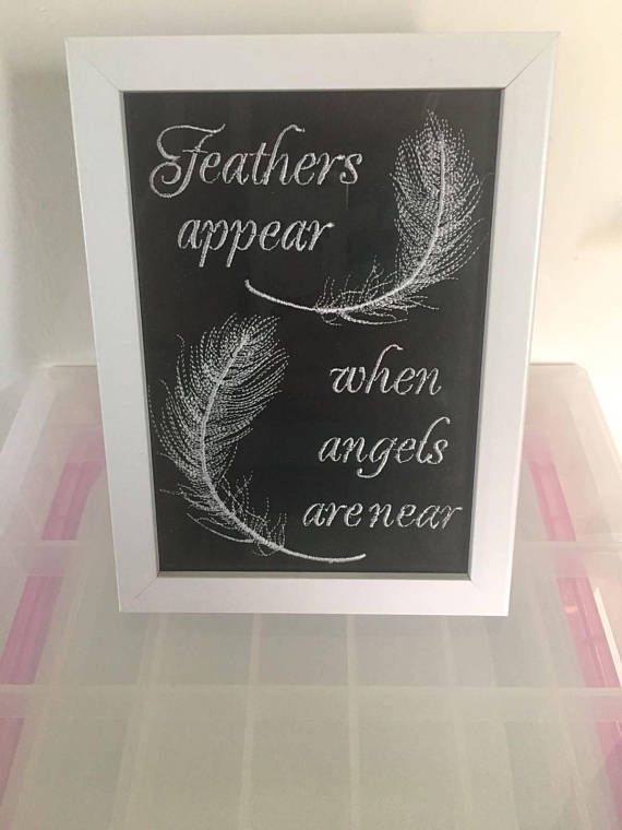 Feathers Appear When Angels Are Near In Memory Of Memorial Frame