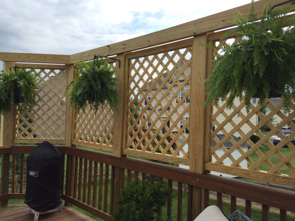Lattice Privacy Wall Privacy Fence Deck Privacy Fence Designs Privacy Screen Outdoor
