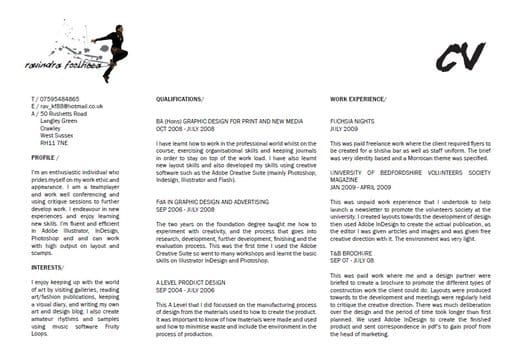 create a landscape graphic design style cv landscaping and