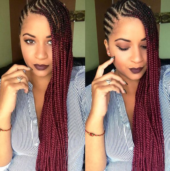 Box Braids Hair By Qphairproduct Freedomstyle Greyhair Freedom Hair Cornrow Hairstyles Hair Styles Braids For Black Hair