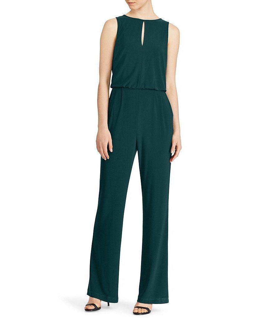 Lauren Ralph Lauren Jersey Wide Leg Jumpsuit Jersey Jumpsuit Jumpsuit Sleeveless Jumpsuits