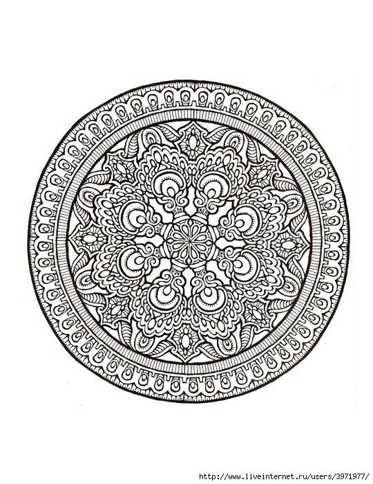 Dover Coloring Book - Mystical Mandala Coloring Book_0006 (540x700 ...