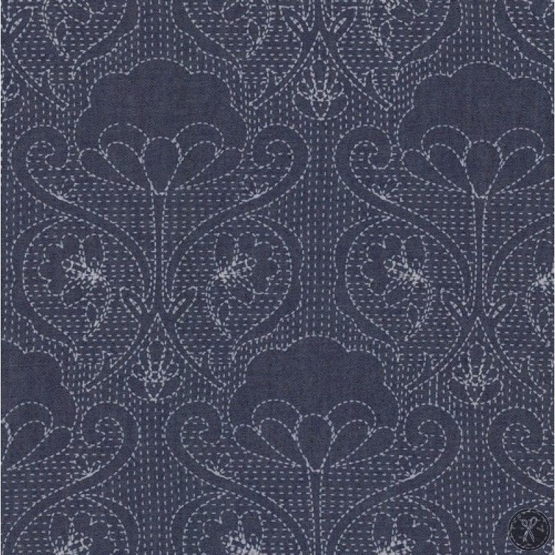 Stiched Ochi Printed Denim Fabric | Fabrics | Art gallery