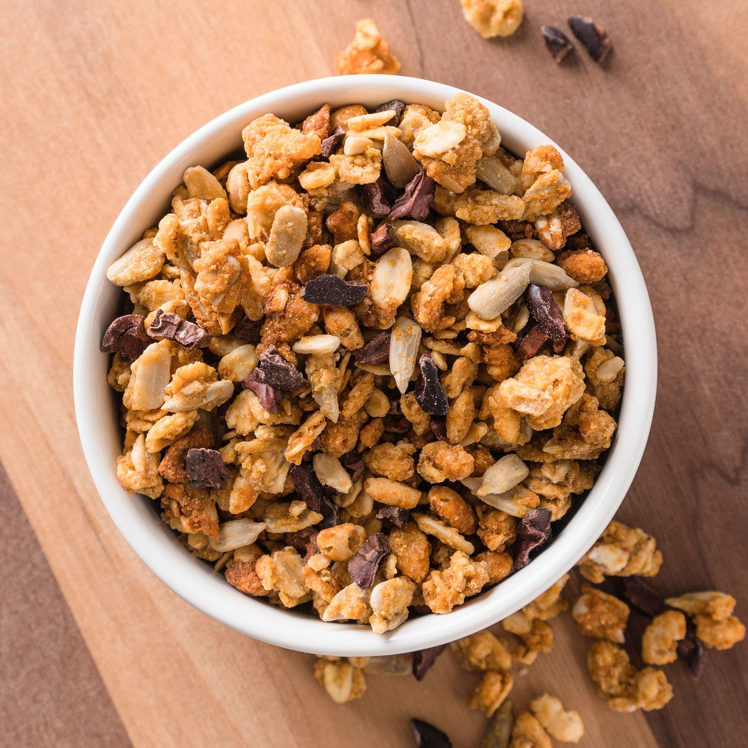 Ginger spice granola organic granola with chocolate in it