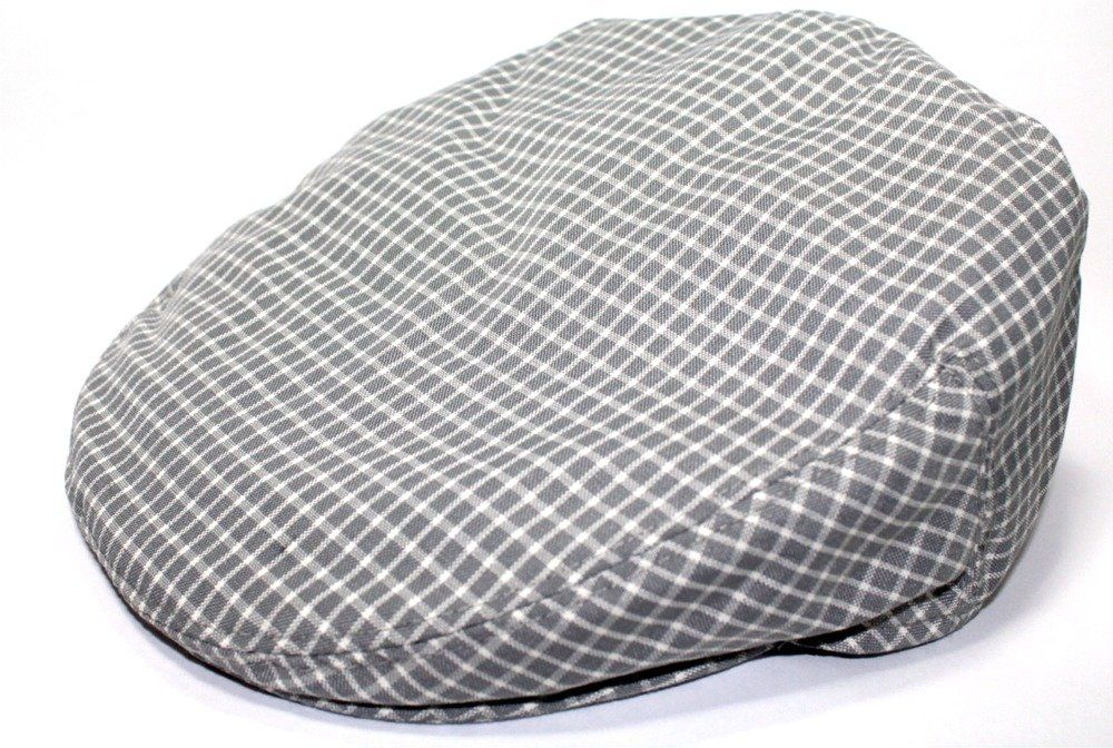 Mens Plaid Golfing Beret Summer Flat Ivy Driving Cabbie Cap Hat Ivy Newsboy (Large, Grey Window Check)