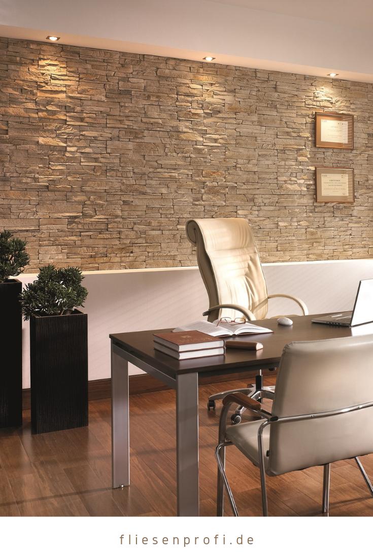 Wandgestaltung Verblender Naturstein Optik Klinker Riemchen Beige Vermont Royal Incana Steinwand Wohnzimmer Wohnzimmer Design Verblender