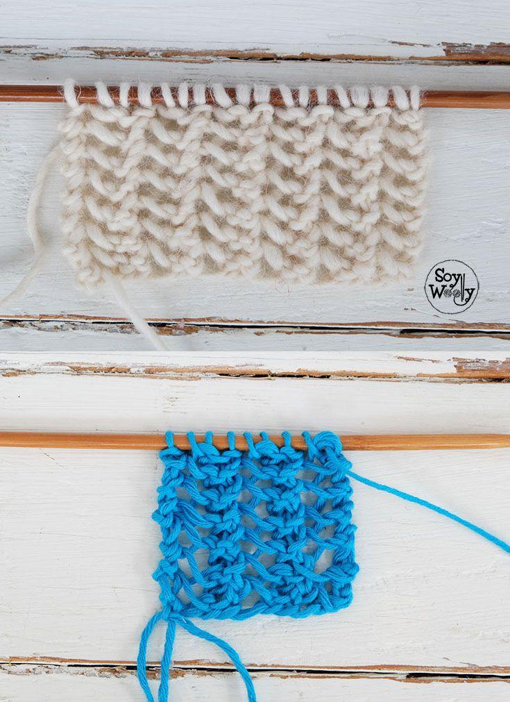 Cómo tejer ENCAJE en tres pasos (dos agujas) muy fáciles | Knitting ...