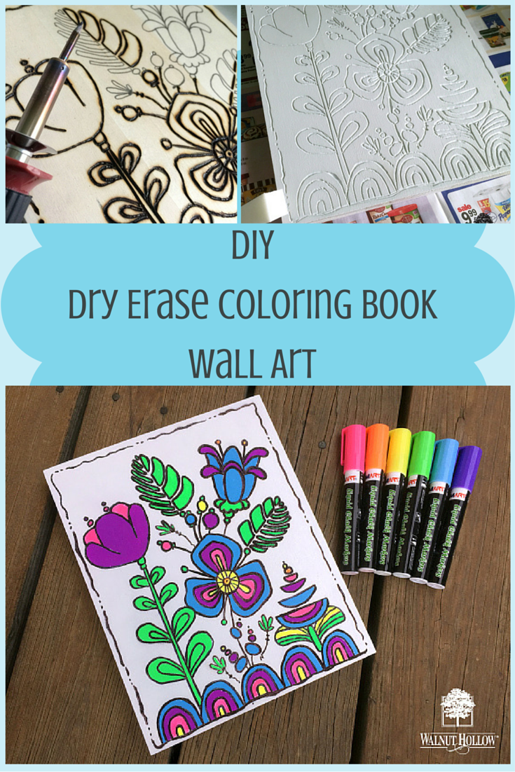 diy dry erase coloring book wall art by walnut hollow - Diy Coloring Book