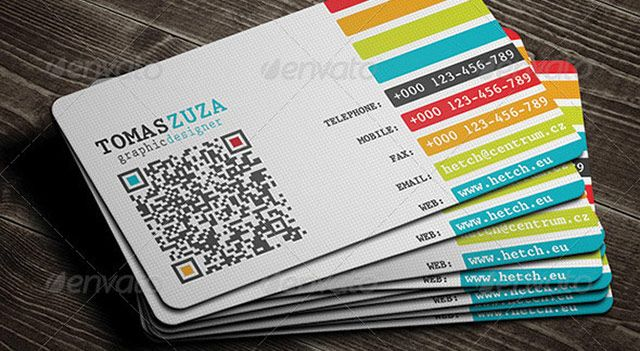 25 Qr Code Business Card Templates Qr Code Business Card Qr