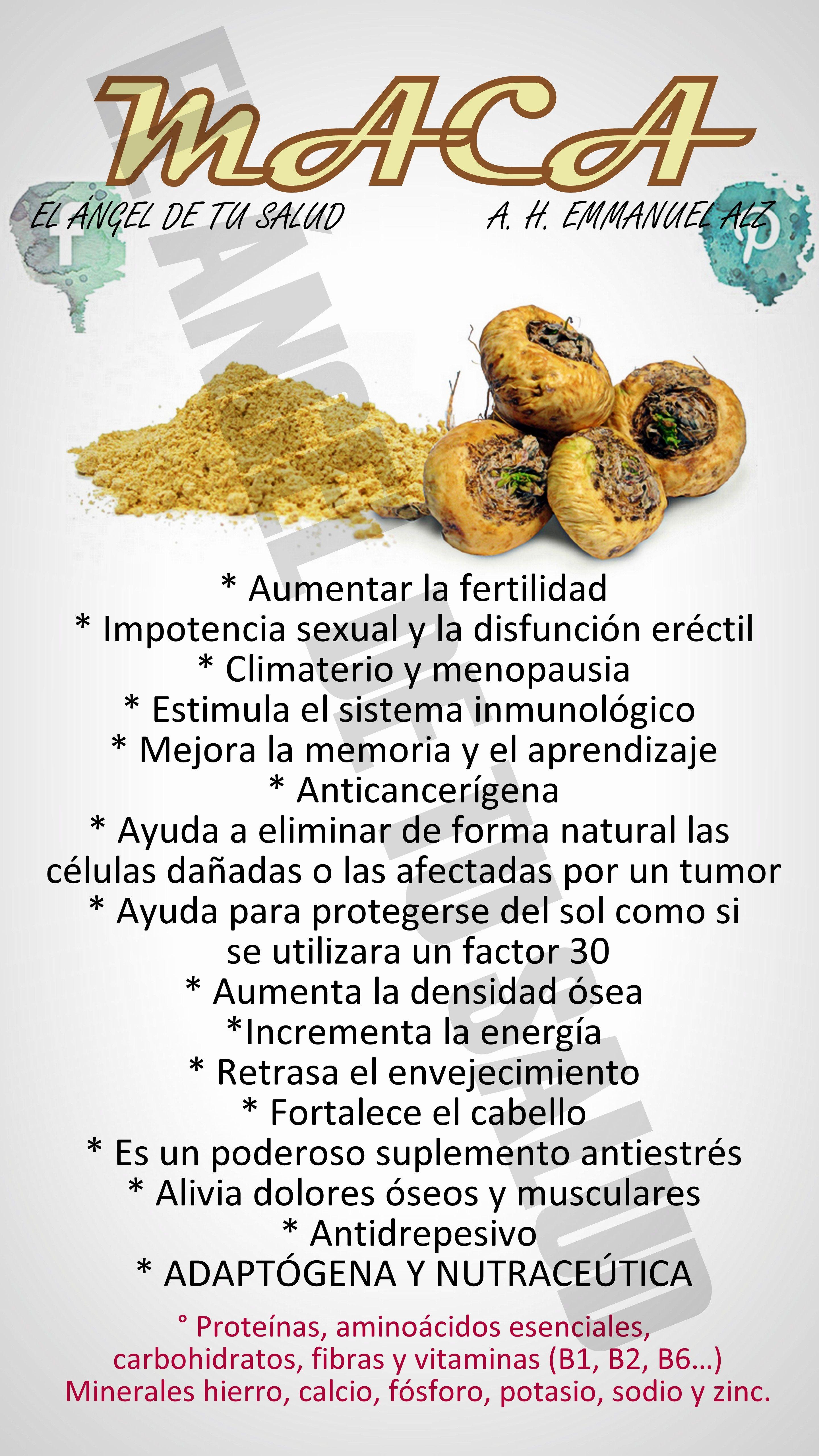 BENEFICIOS DE LA MACA PERUANA | Salud | Pinterest
