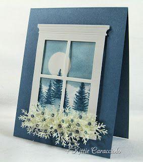 Stampin Sisterhood: Kittie's Corner- Snowy Moonlight Window