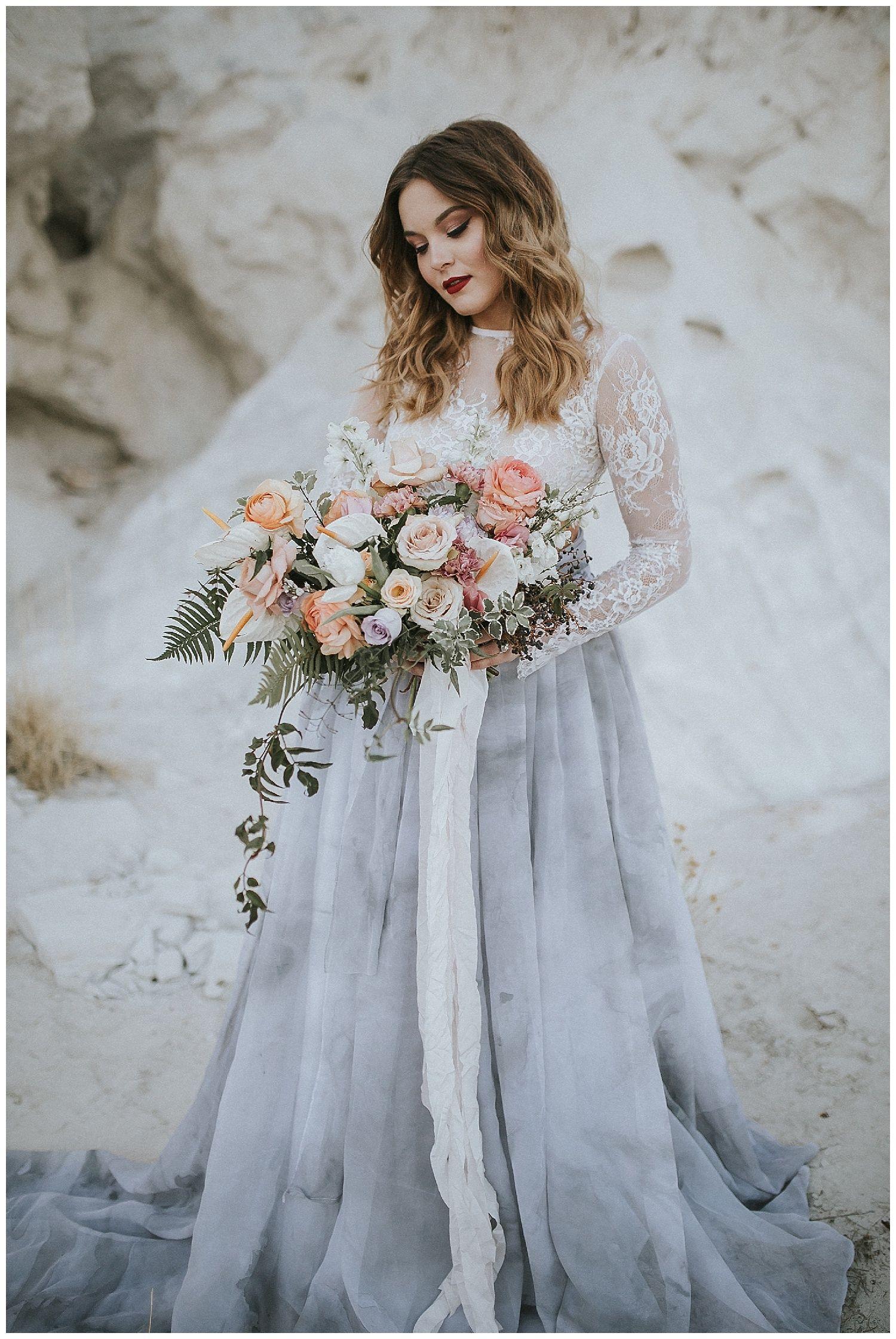 A grey and marble styled wedding shoot, Albuquerque/Santa Fe NM ...