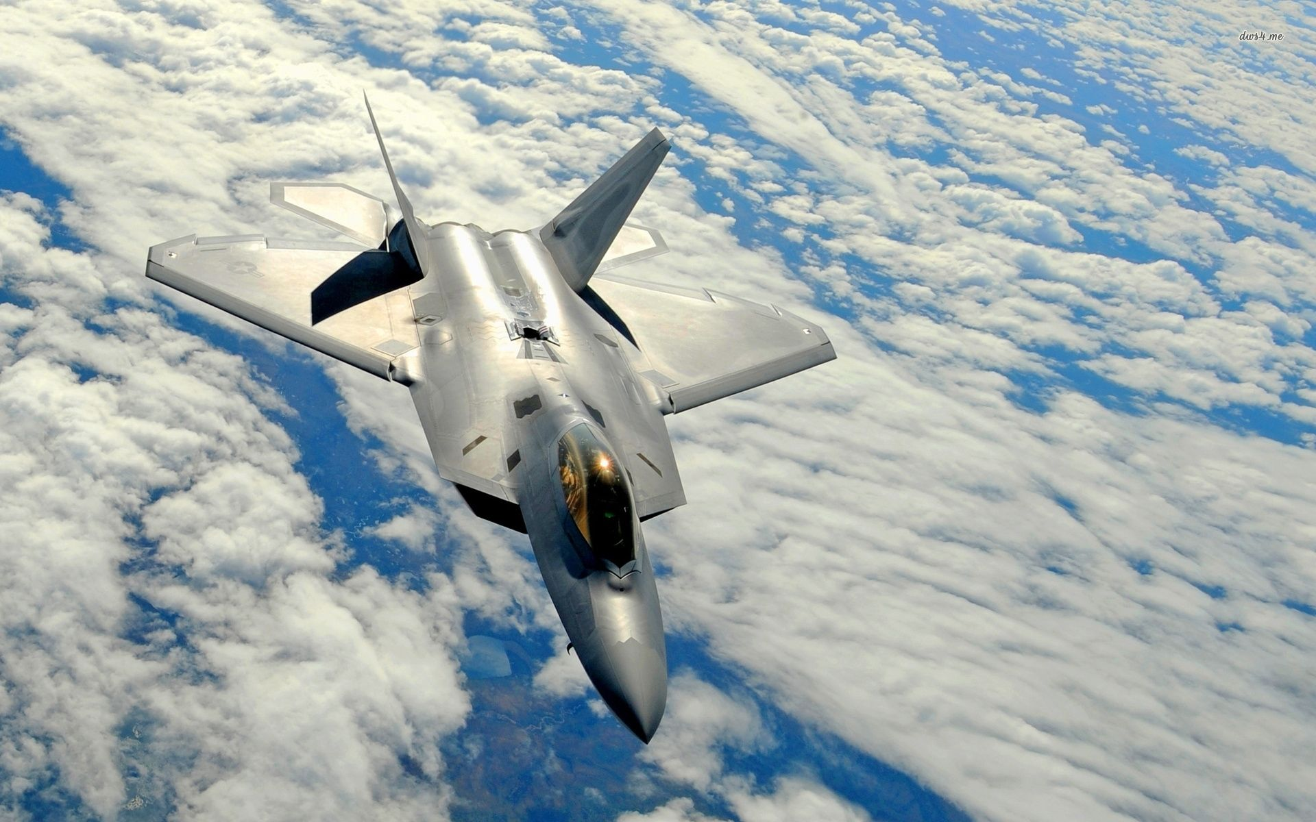 Lockheed Martin F 22 Raptor Above The Fluffy Clouds Lockheed Raptor Fighter Jets