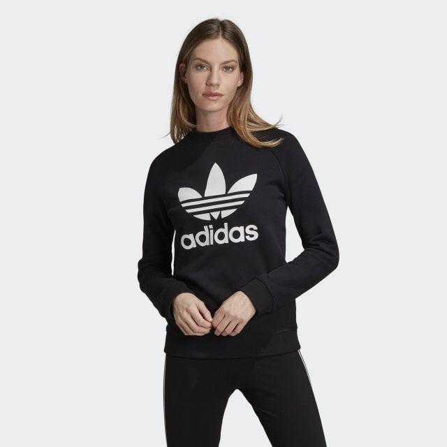 Photo of adidas Trefoil Crewneck Sweatshirt – Black | adidas US