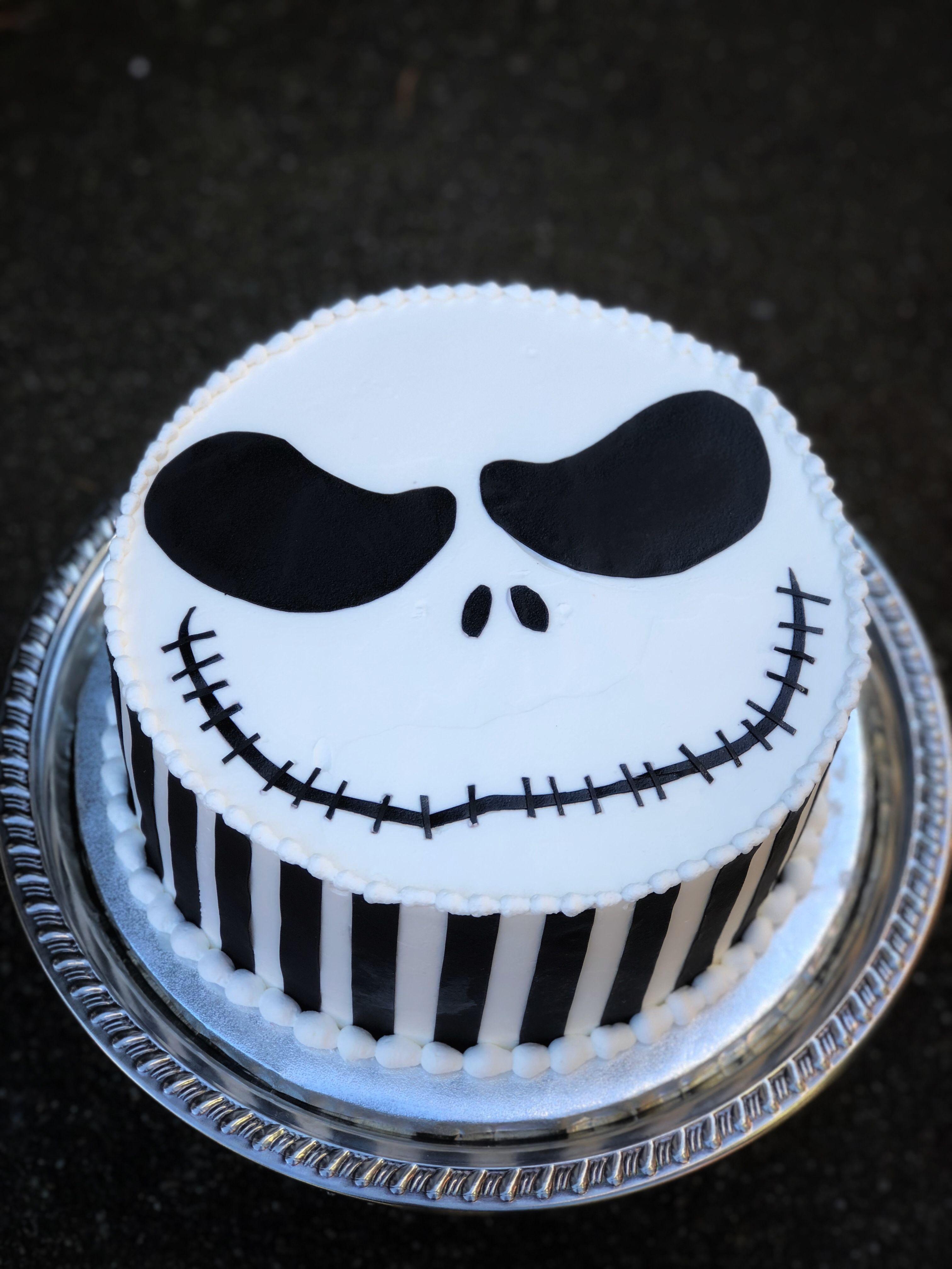 Simple Jack Skellington Cake With Images Halloween Cake