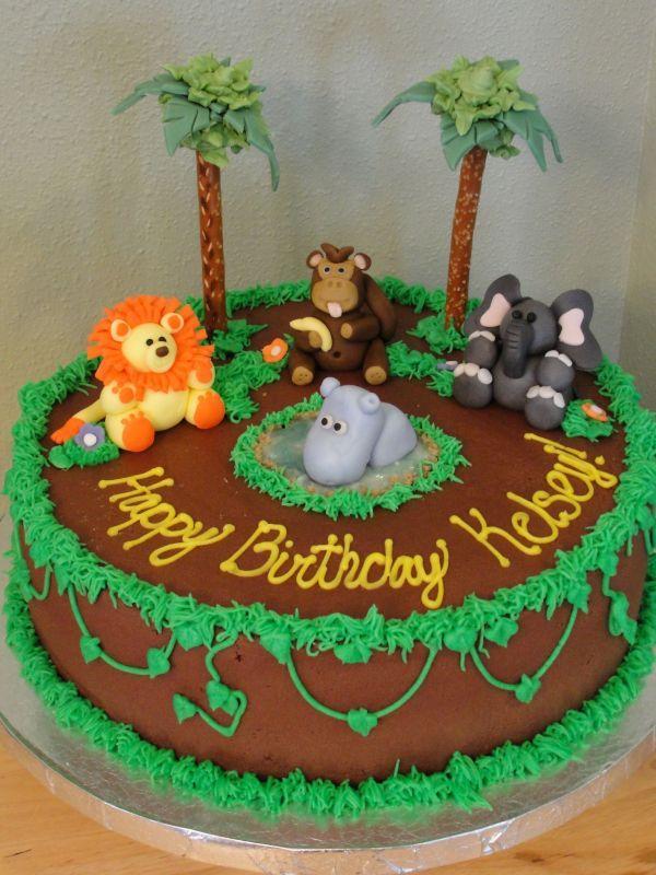 Jungle Cake Animal Birthday Cakes Jungle Birthday Cakes Safari