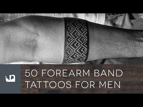 c2a1e1a376860 50 Forearm Band Tattoos For Men - YouTube | tattoos | Tattoos for ...