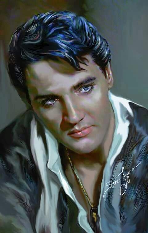 Elvis Presley Oil Painting Sara Lynn Sanders