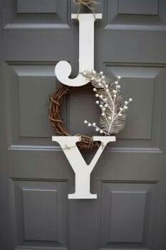 Large Wood Letter JOY Sign · Decorating Small SpacesDecorating IdeasSmall  ...