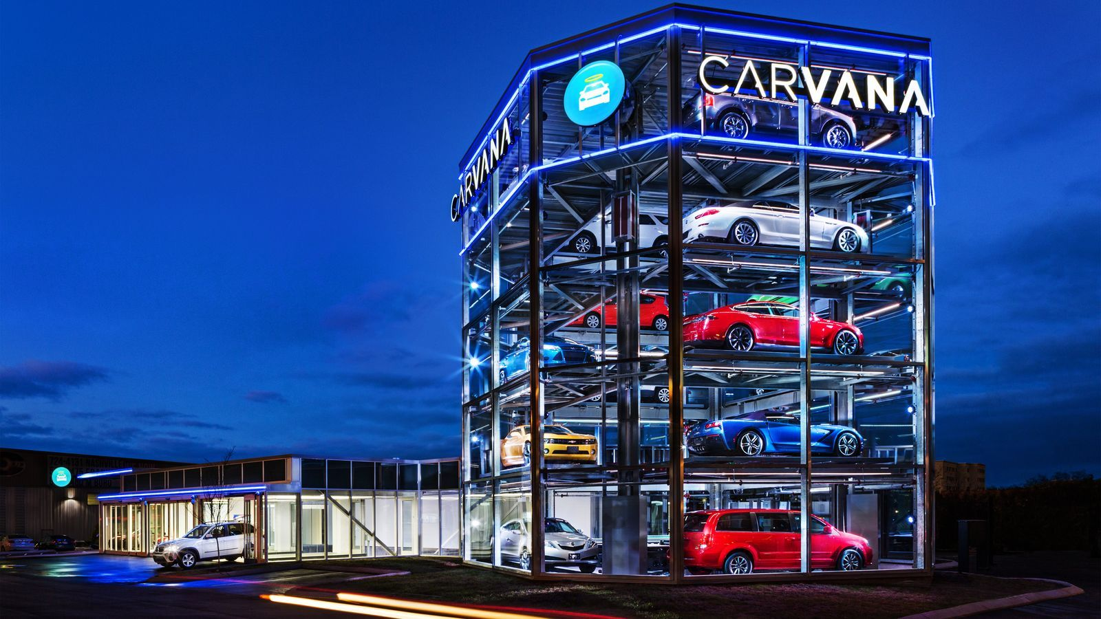 A fivestory vending machine for cars just opened in