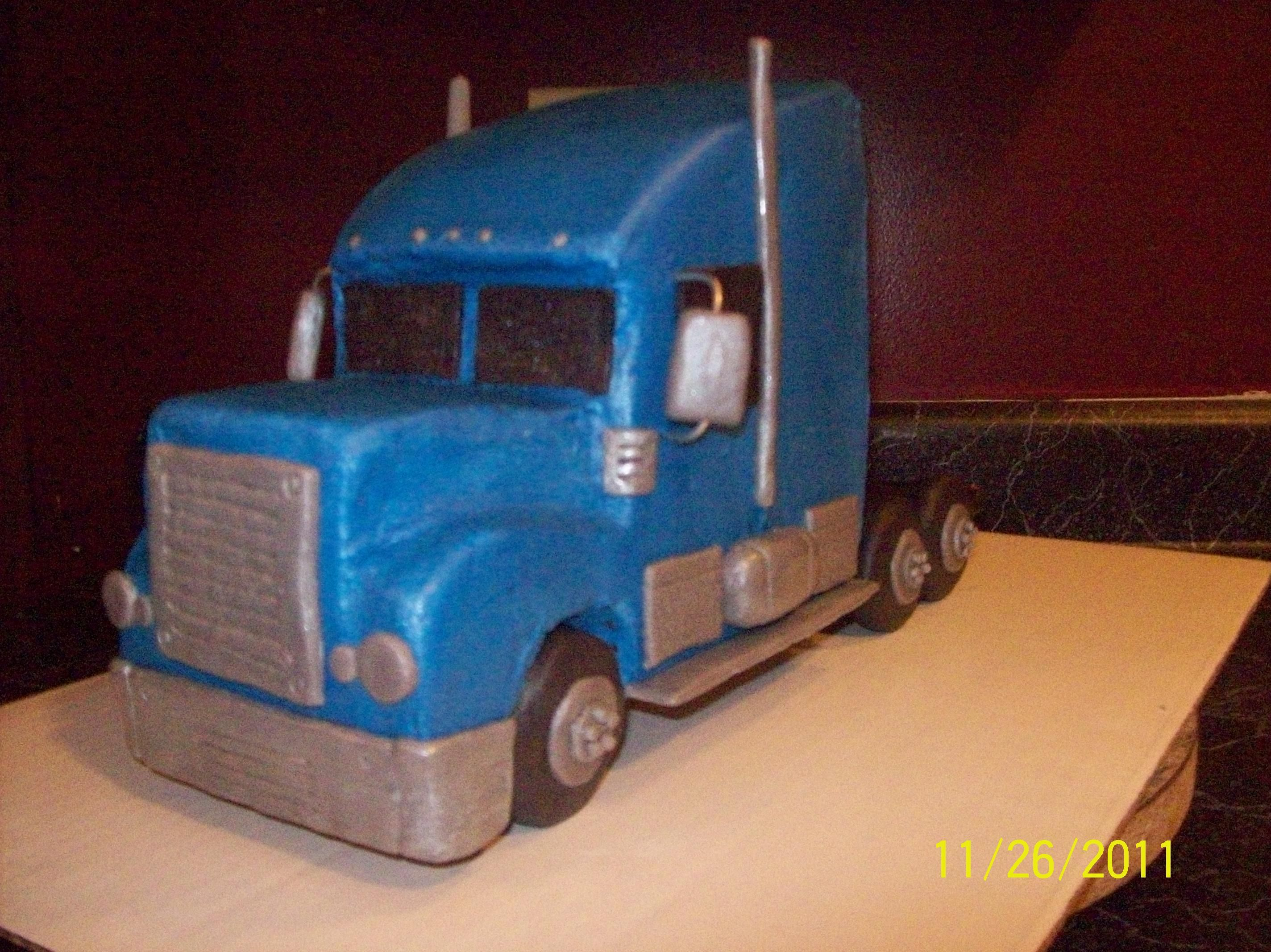 How To Make A Semi Truck Cake Step By Step