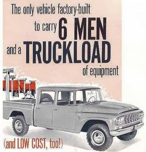 Introducing The 1961 International Harvester Travelette First Factory 4 Door Crewcab Pickup Truck Made By Any Manufacturer