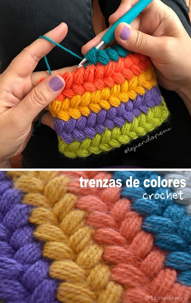 Braid Puff Stitch Crochet Pattern Tutorial - #crochetbraids