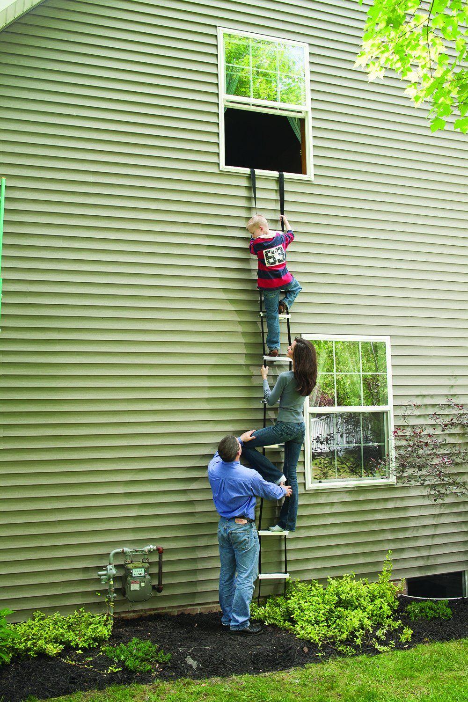 Amazon Com Werner Esc330 Fire Escape Ladder Three Story Home Improvement Fire Escape Ladder Escape Ladder Fire Escape
