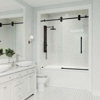 Black Bypass Sliding Bathtub Doors Bathtubs The Home Depot Frameless Shower Doors Tub Doors Bathtub Doors